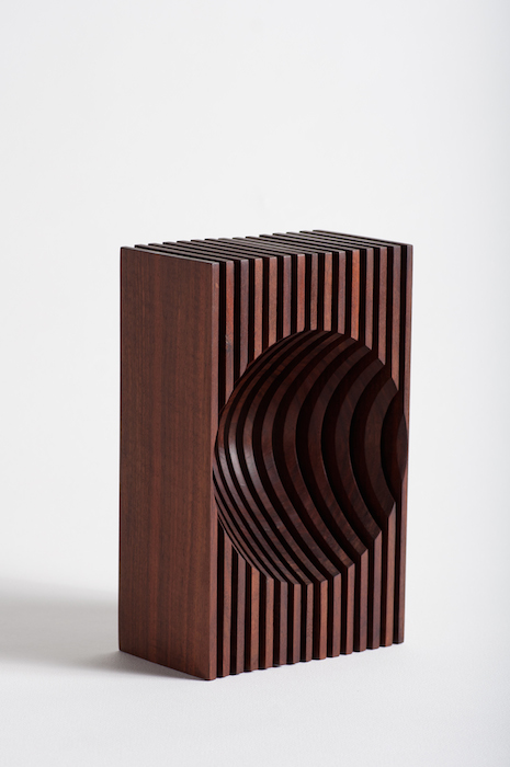 Dewey Garrett  Parallax Form ,1999 4 x8x 12 inches,walnut