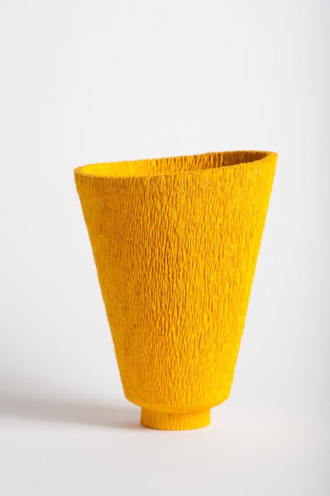 Dewey Garrett  Nonchalance , 2004 12x 7 inches, dyed yellow palm
