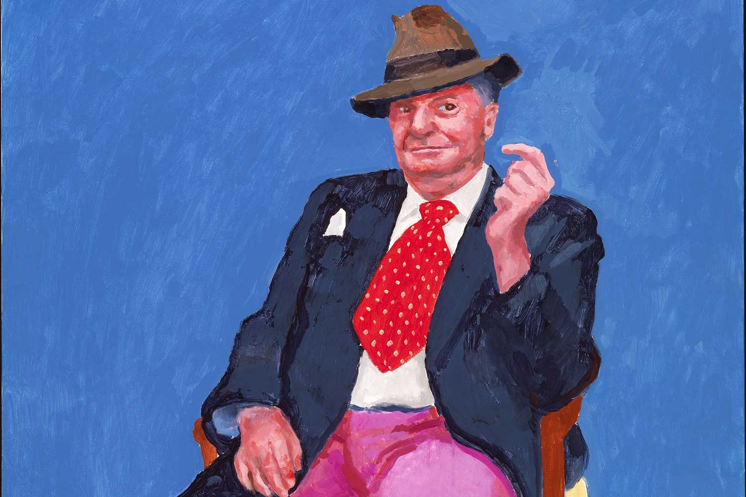 David Hockney,  Barry Humphries, 26th, 27th, 28th March 2015 (detail)  from  82 Portraits and 1 Still-life , 2015, collection of the artist, © David Hockney, photo by Richard Schmidt