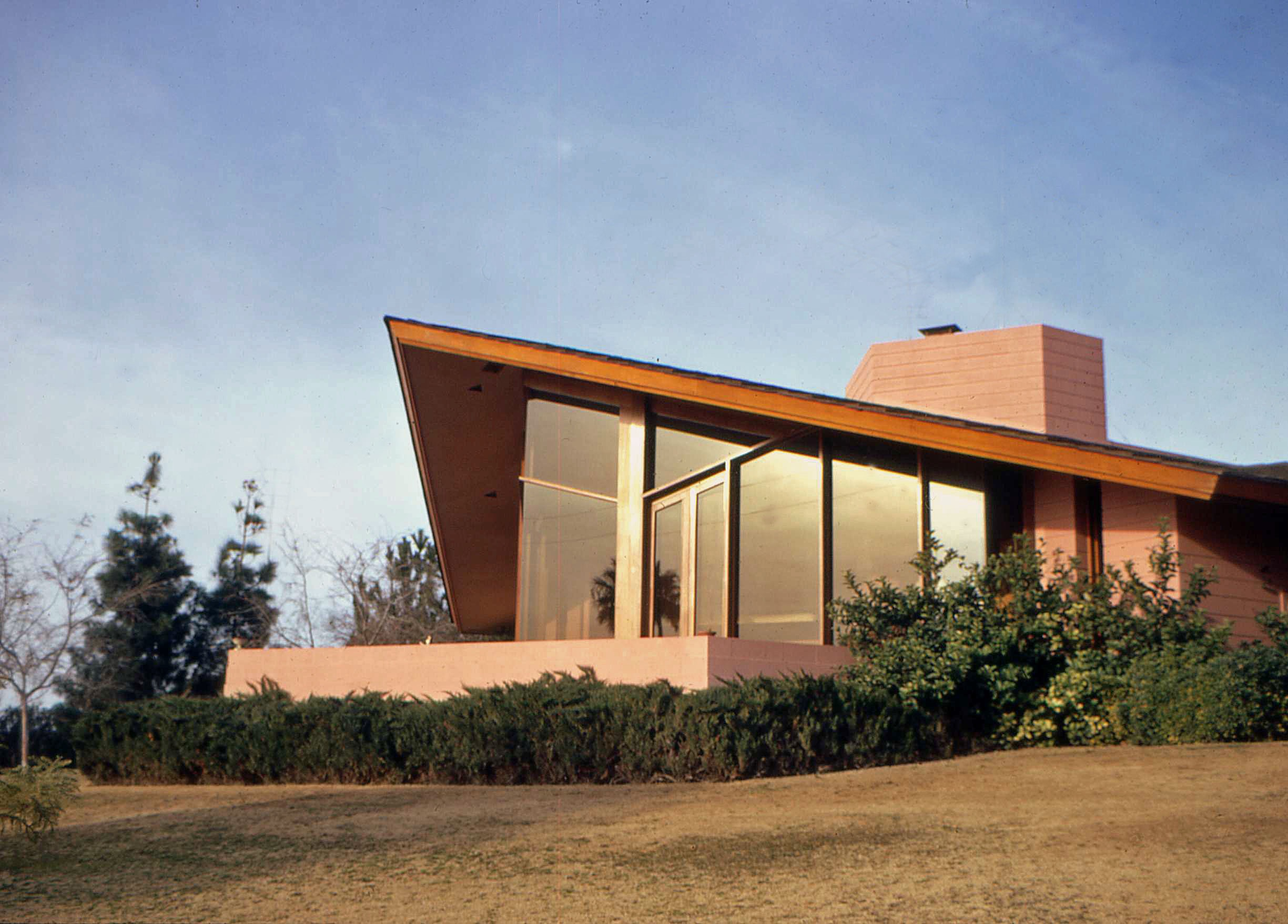 Ablin Residence (built in 1961, Photo: 1975), Frank Lloyd Wright. Image courtesy of Thomas Olsen.