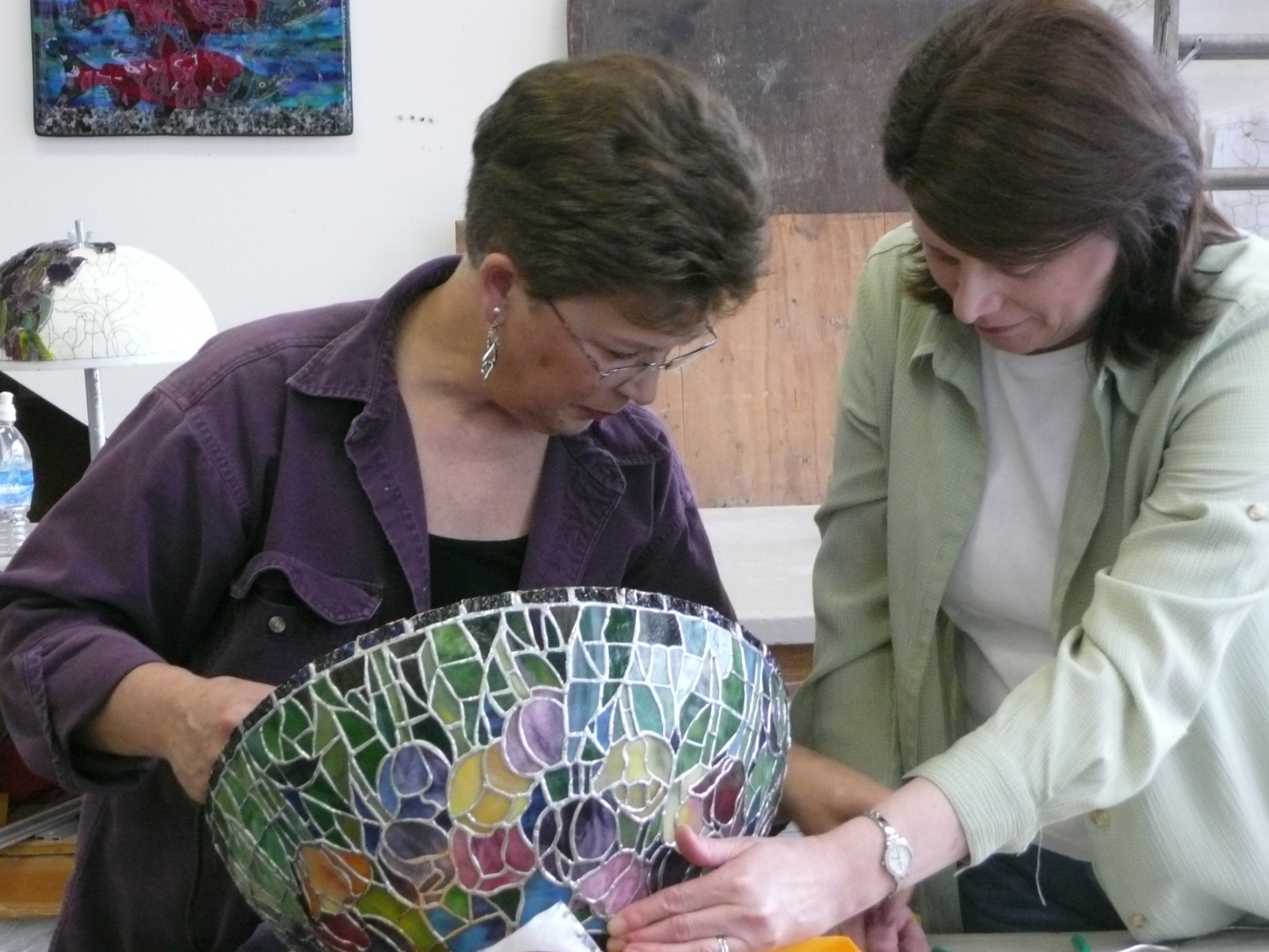 2008 Nancy helping Marlene