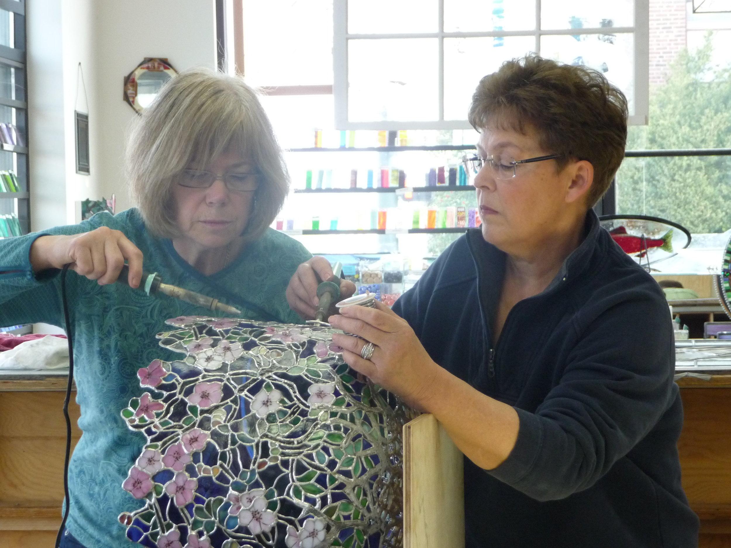 2011 Nancy helping Gail