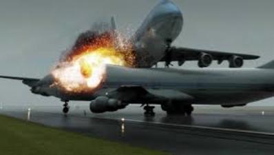 Tenerife airport disaster Year:1977  (computer generated image)