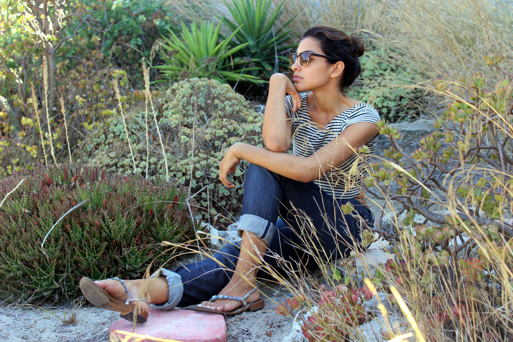 Top: Zara Jeans: Joe's Jeans Shoes: Handmade in Capri Sunglasses: Rayban