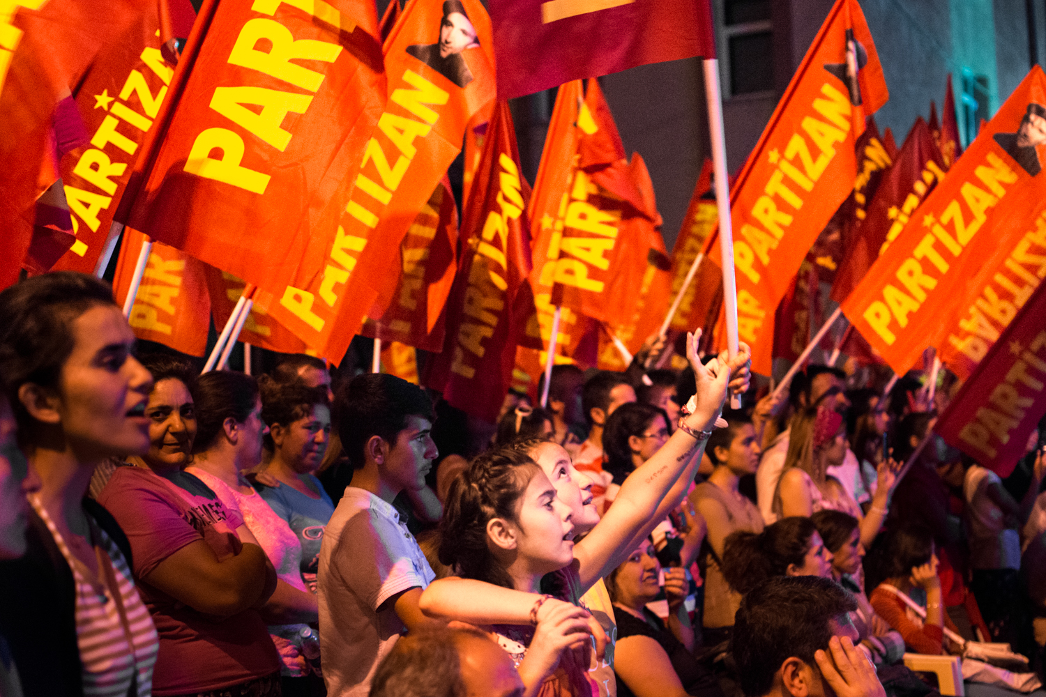 Munzur feels very politically engaged, and many people lean Communist. In March, 2014, the town of Ovacik elected the first Communist mayor in the history of Turkey. Here, a music festival turns into a rally.