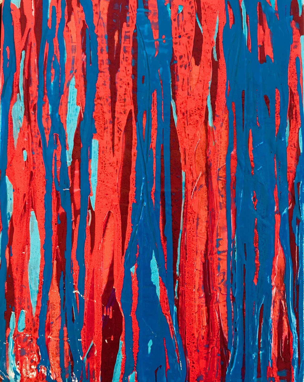 "Untitled, acylic on canvas, 14"" x 11"""