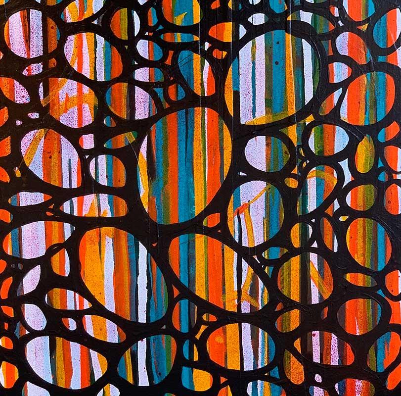 "Through the Looking Glass, acrylic on canvas, 24"" x 24"" (framed)"