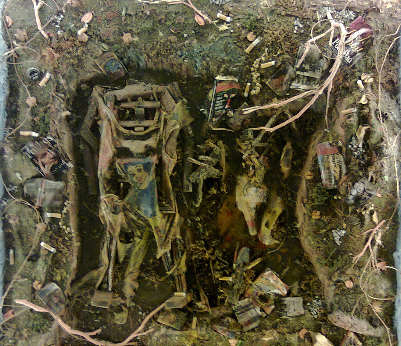 CHUN Kai Qun   The Tragedy of Undoubting  2012 Mixed media H 92 x W 92 x D 20 cm