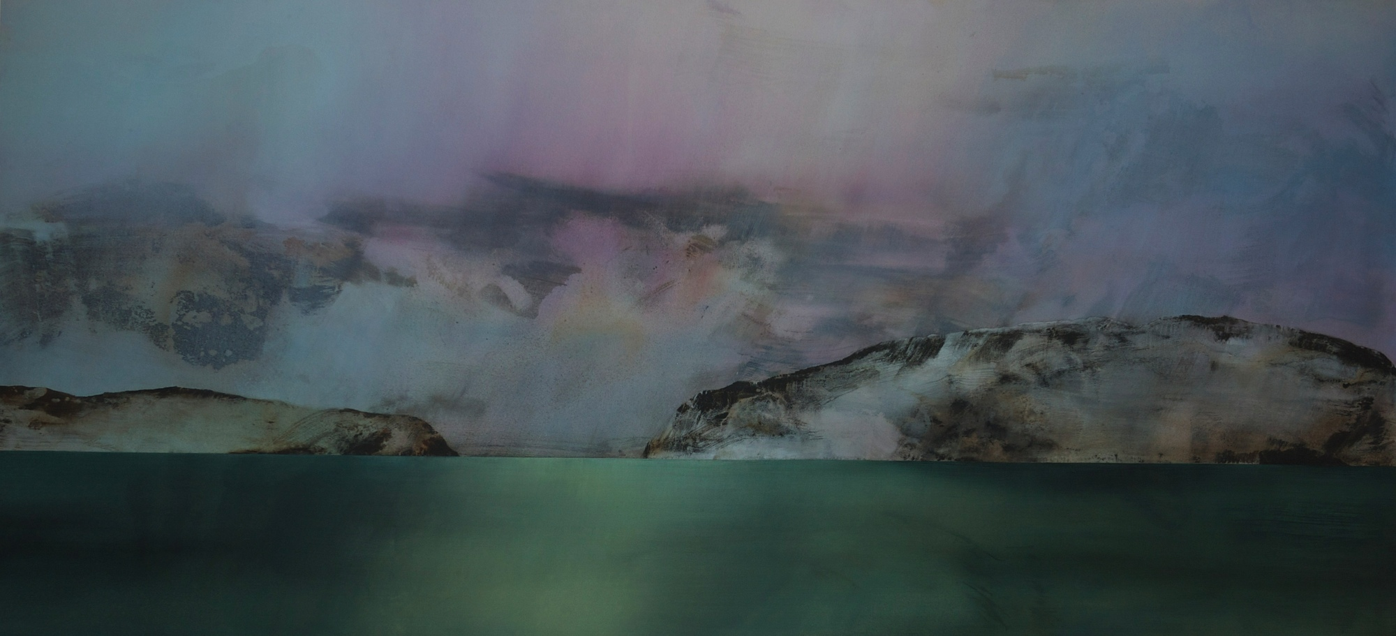 Liquid Light of Day  2013 Acrylic on canvas 136 x 290 cm