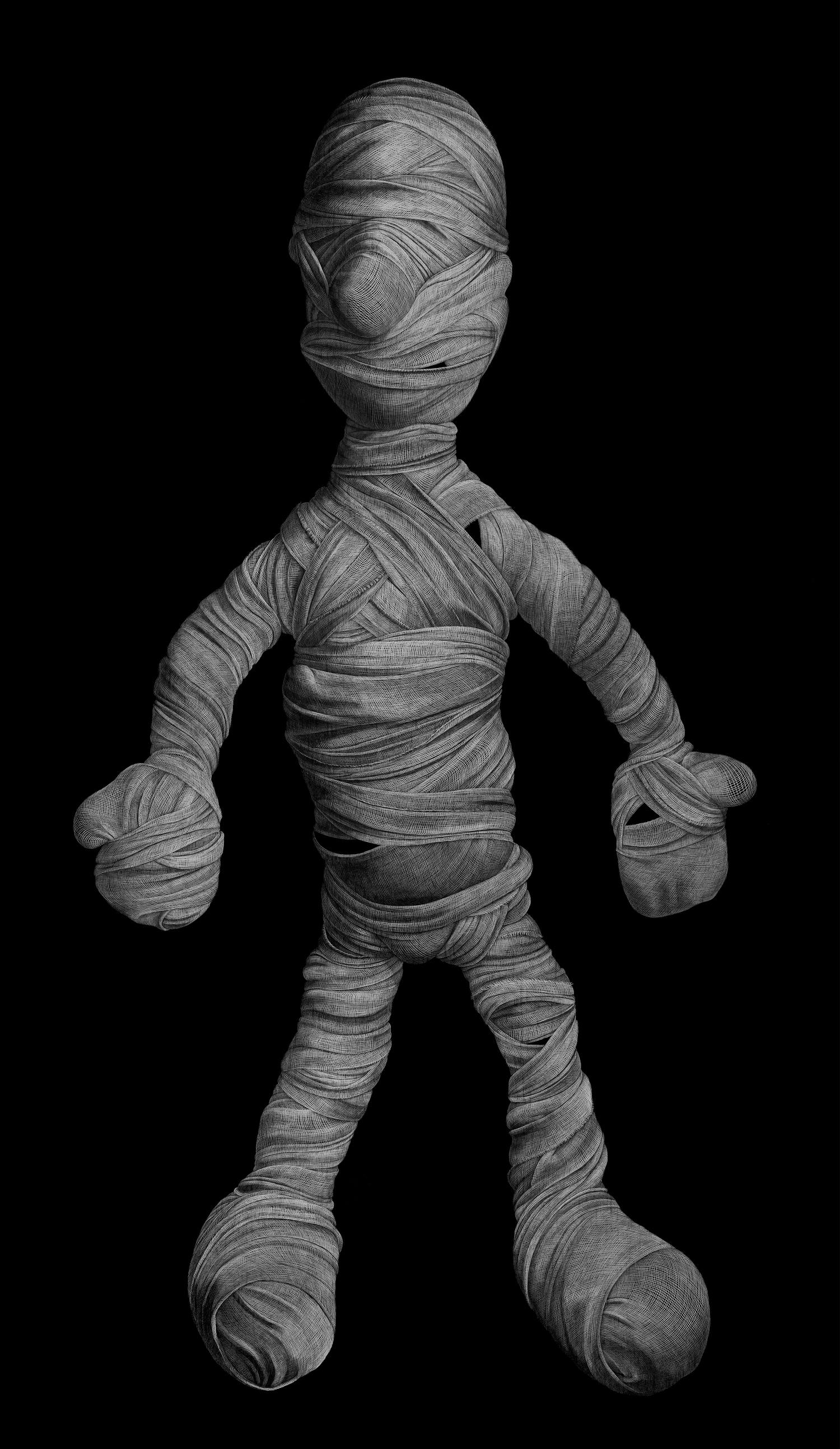 Protagonist (Human)  2013 Engraved drawing on vinyl 244 x 165 cm