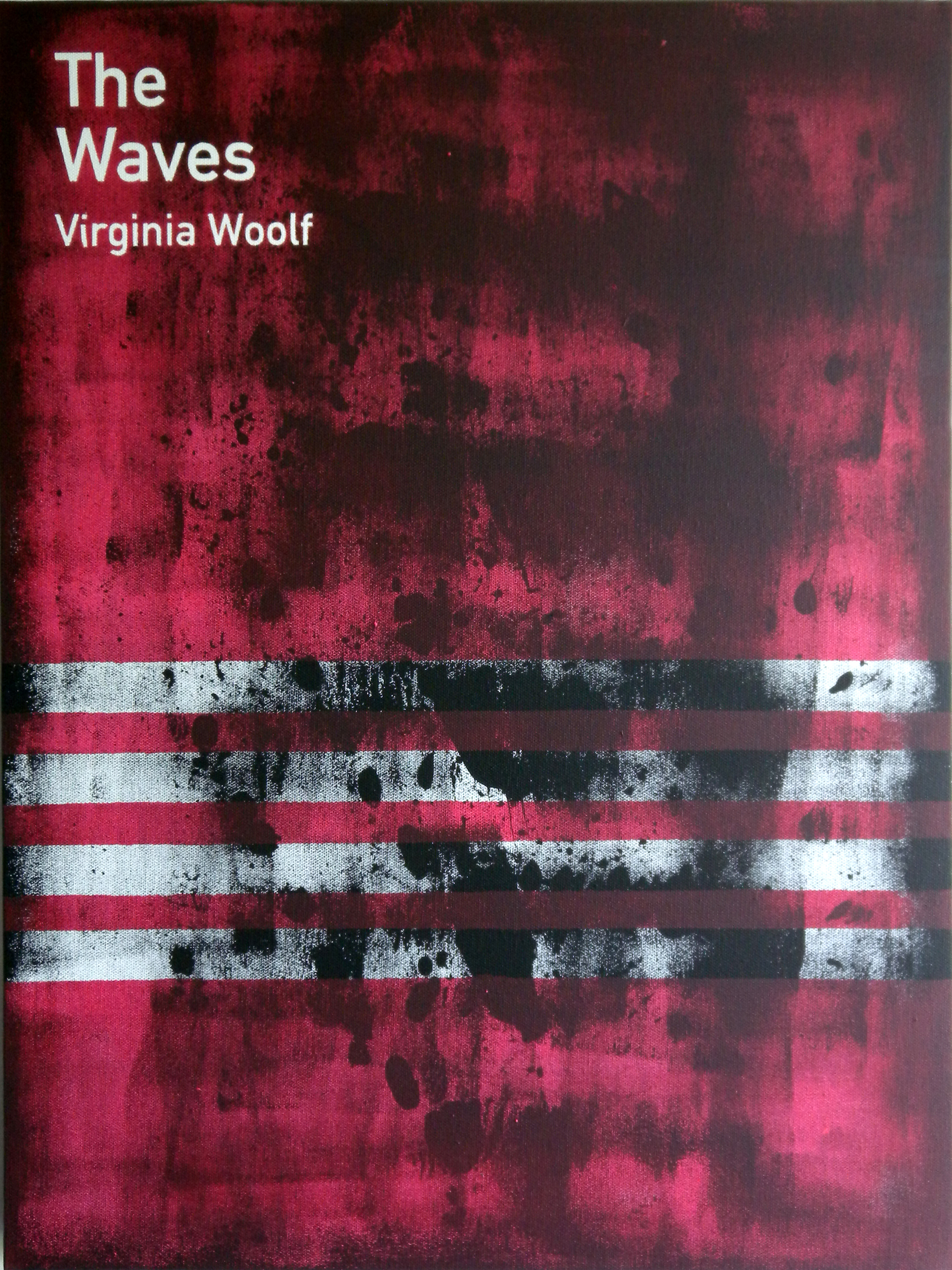 The Waves / Virginia Woolf (2)  2013 Acrylic on canvas 46 x 61 x 3.5 cm