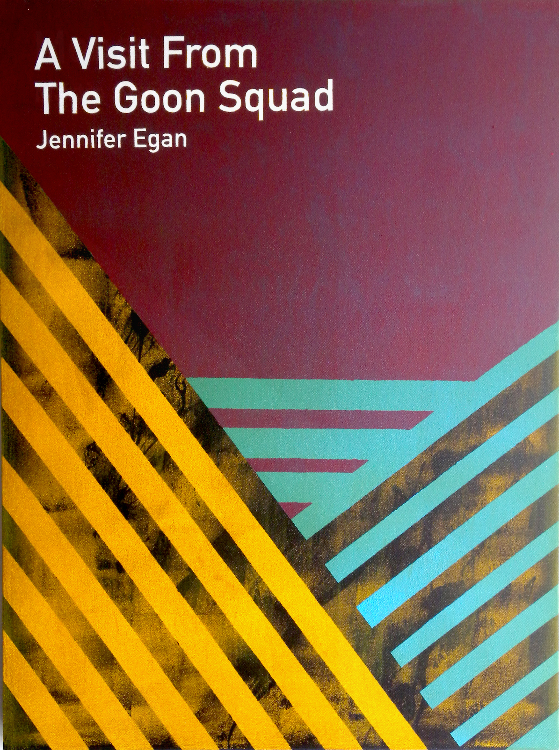 A Visit from The Goon Squad / Jennifer Egan  2013 Acrylic on canvas 46 x 61 x 3.5 cm