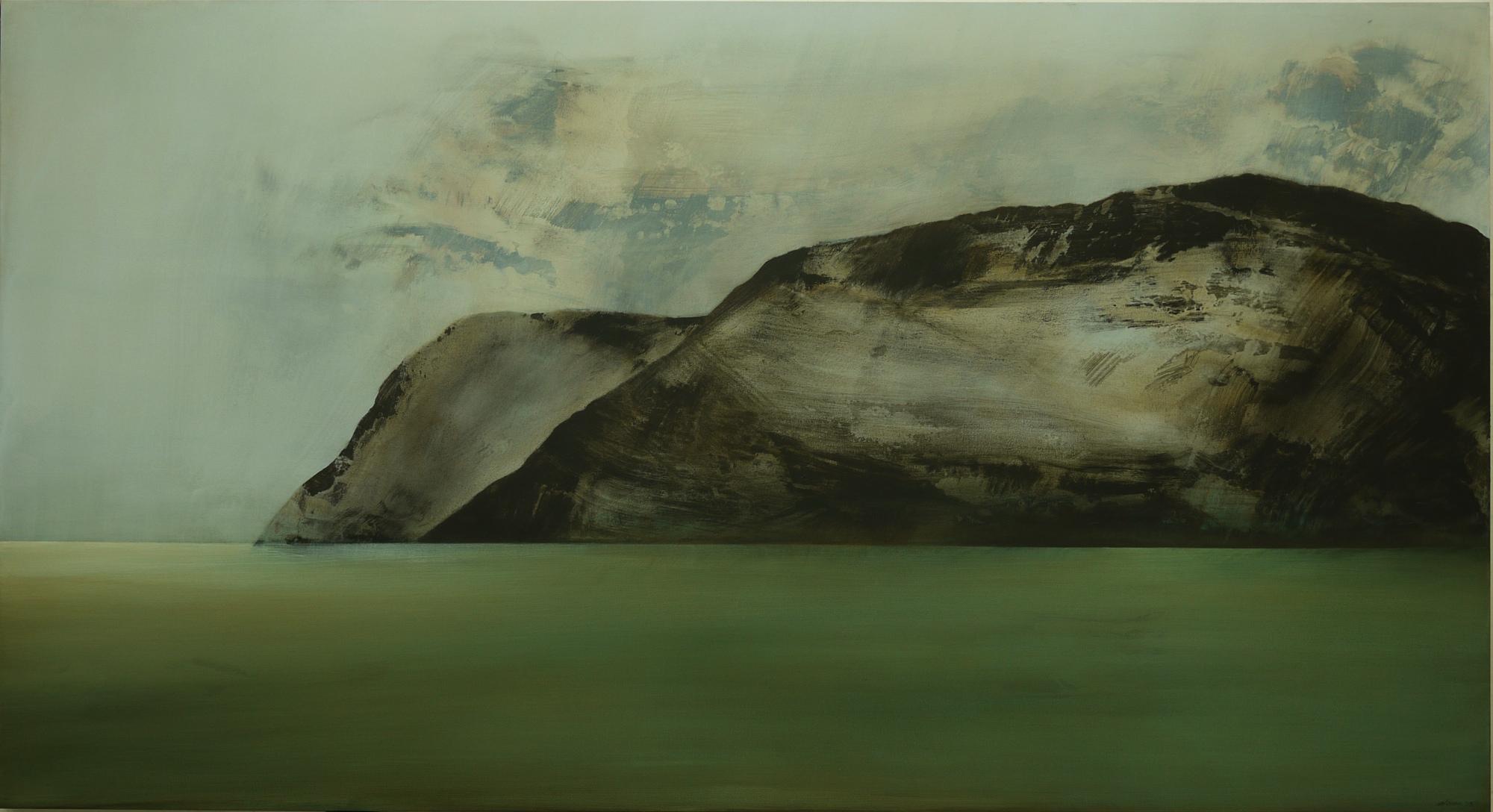 A Silent History  2013 Acrylic on canvas 118 x 217 cm