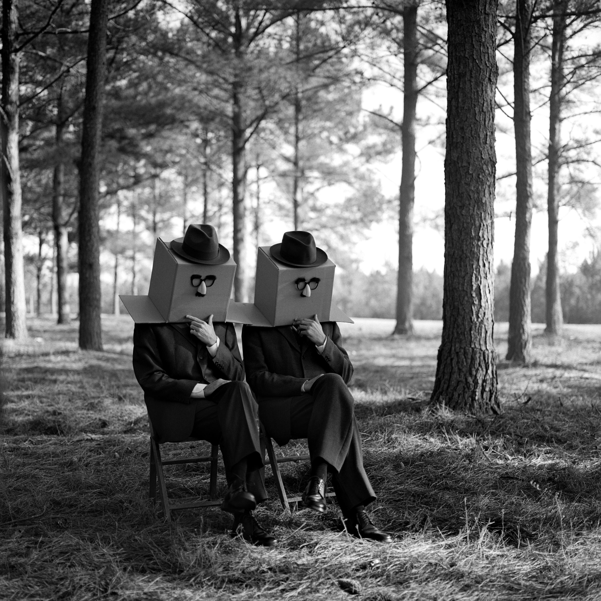 Men with Boxes on Head,   Brunswick, GA  2011 Archival pigment print 69 x 69 cm (image) 89 x 99 cm (paper)