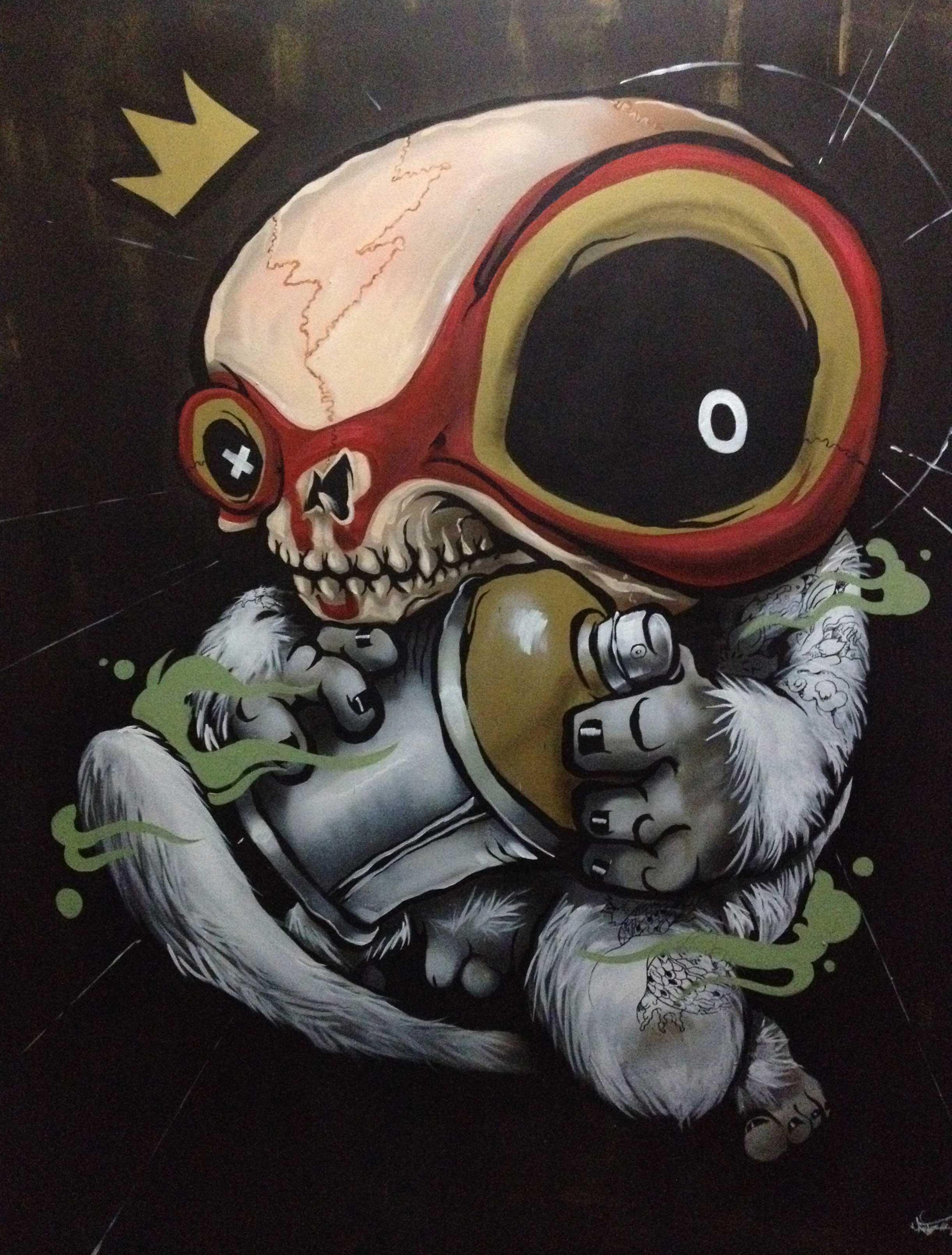 """ANTZ  RaSKULL  2012 Mixed medium on canvas 60 x 40"""""""