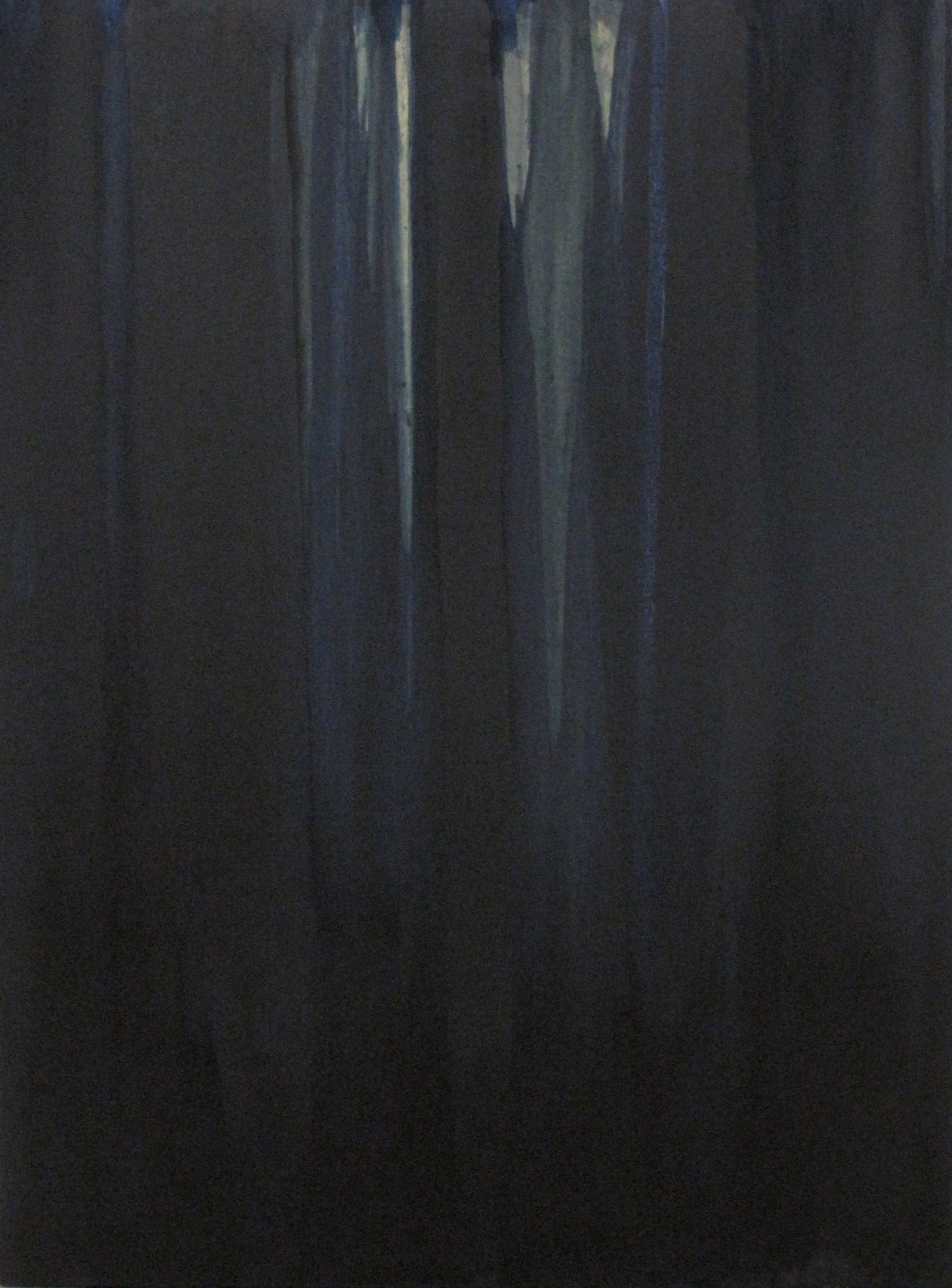 Luke HENG  No.60/2 (Blue)  2012 Oil and Pigment on Canvas 100 x 80 cm