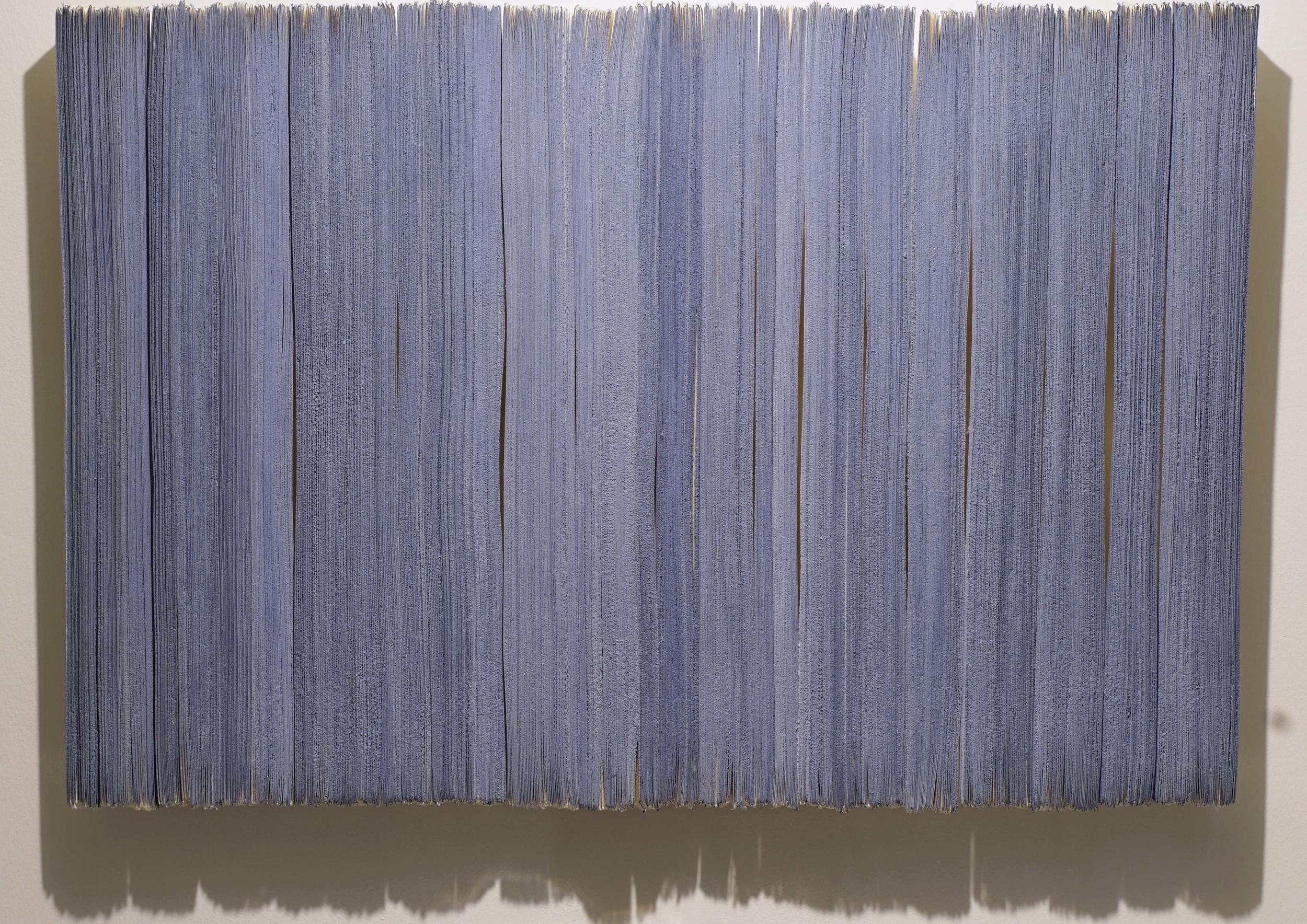 n. 324 - cementation  2015 Acid-free cotton pulp watercolour paper, Ultramarine Ash pigment, archival EVA glue and  nikawa  (cow hide glue) H58 x W88 x D3.5 cm (artwork)
