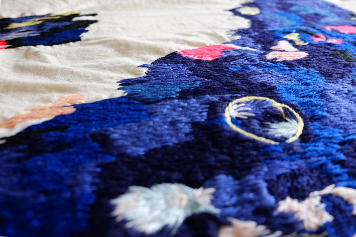 Izziyana SUHAIMI, I Remember Time With Such Slowness, 2015, Cotton thread on calico, dimensions variable-detail_01.jpg
