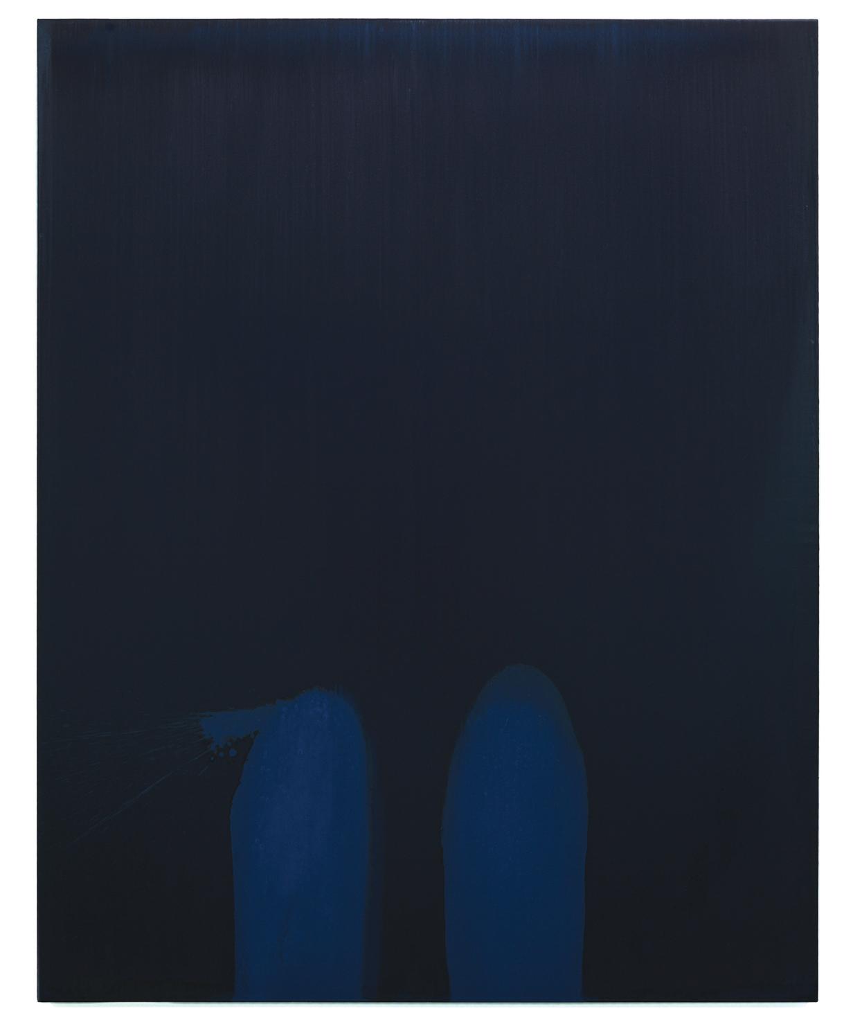 Luke HENG Blue on Blue no.2 2015 Oil on linen H170 x W135 x D5 cm