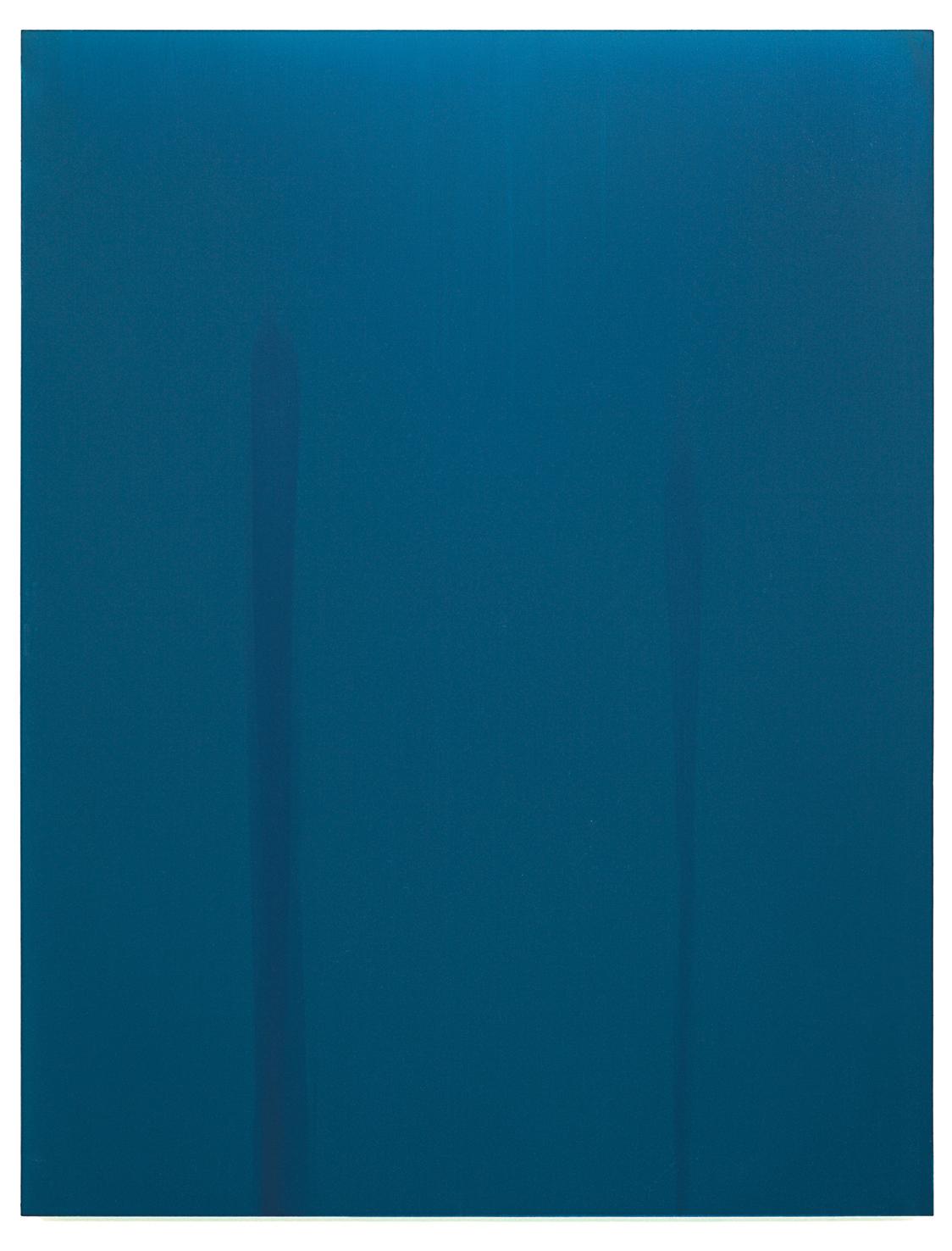 Luke HENG Blue on White no.2 2015 Oil on linen H150 x W115 xD5 cm