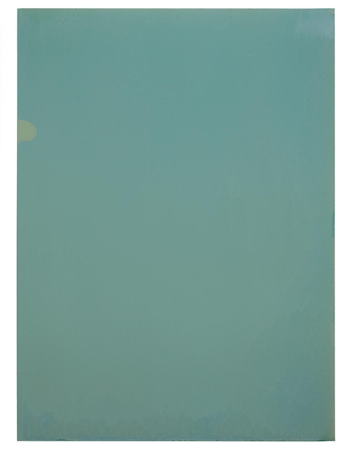 Luke HENG Green on White 2015 Oil on linen H130 x W95 xD5 cm