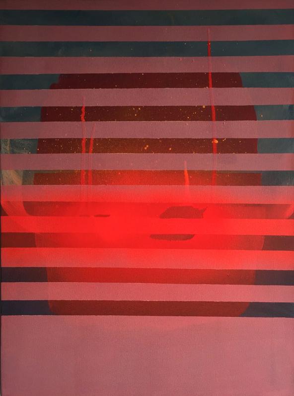 Heman Chong  Things That Remain Unwritten #67  2016 Acrylic on canvas H61 x W46 x D3.5 cm