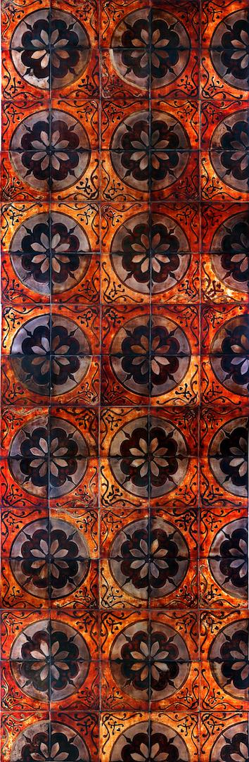 Cadastre  2009  Son ta  lacquer on Iron 75 tiles L300 x W100 x D0.8 cm