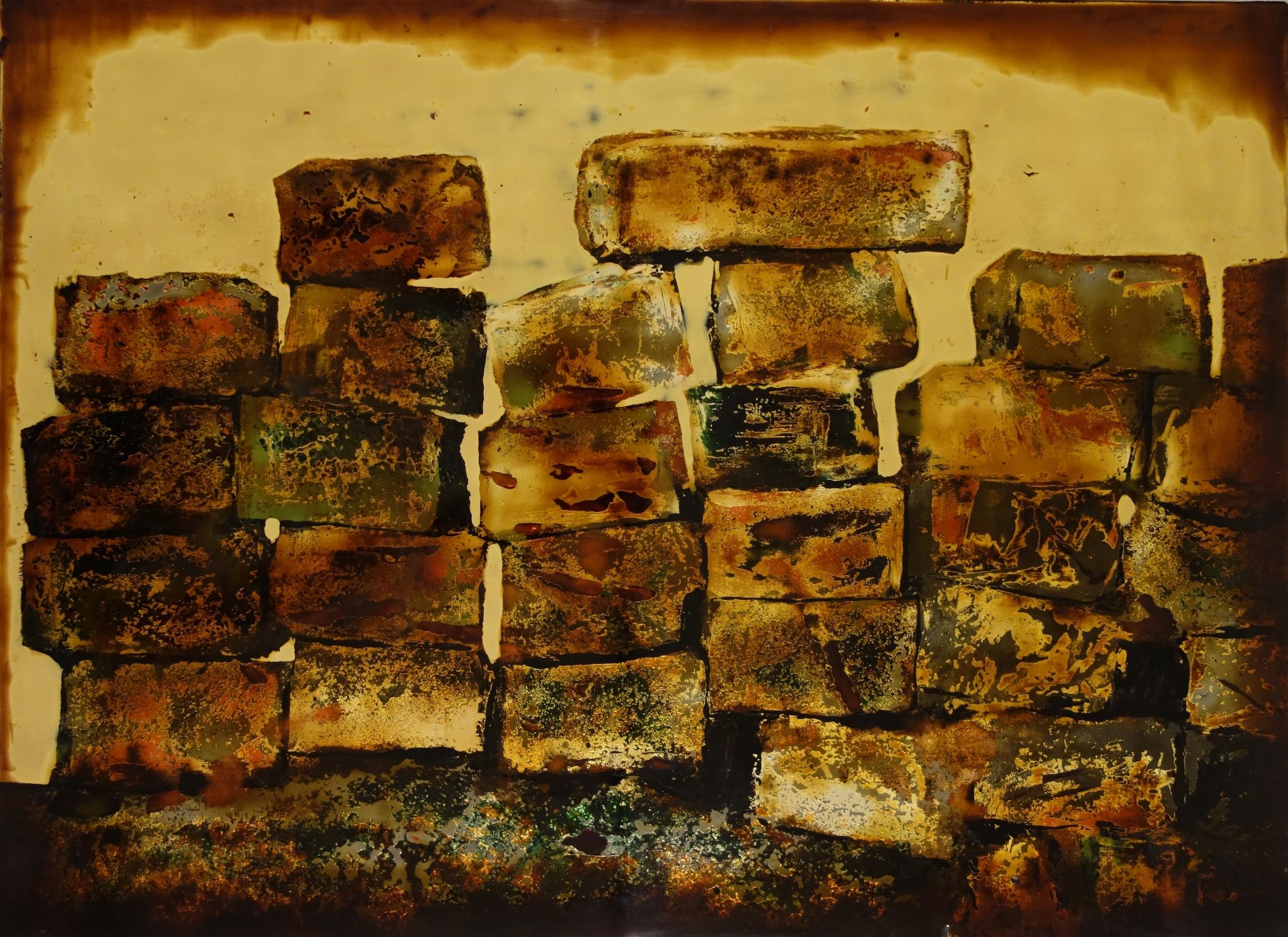 Cornerstone 3   2009   Son ta  lacquer on epoxy and fibreglass composite  H44.6 x W60.5 x D5.8 cm