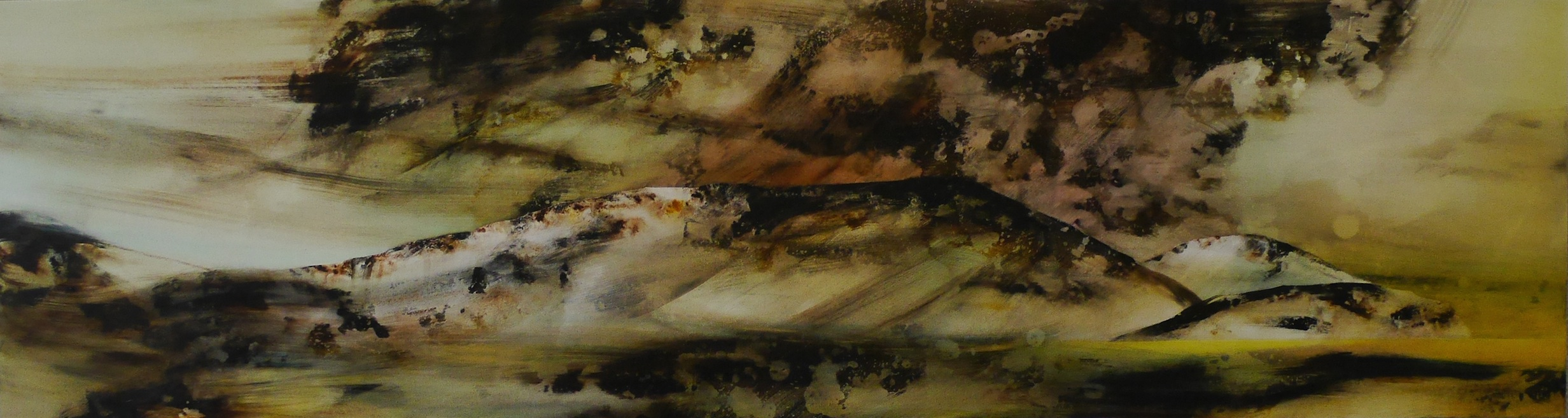 Wyn-Lyn TAN   (In)visible Horizons VII   2017  Acrylic on canvas  H54 x W200 cm