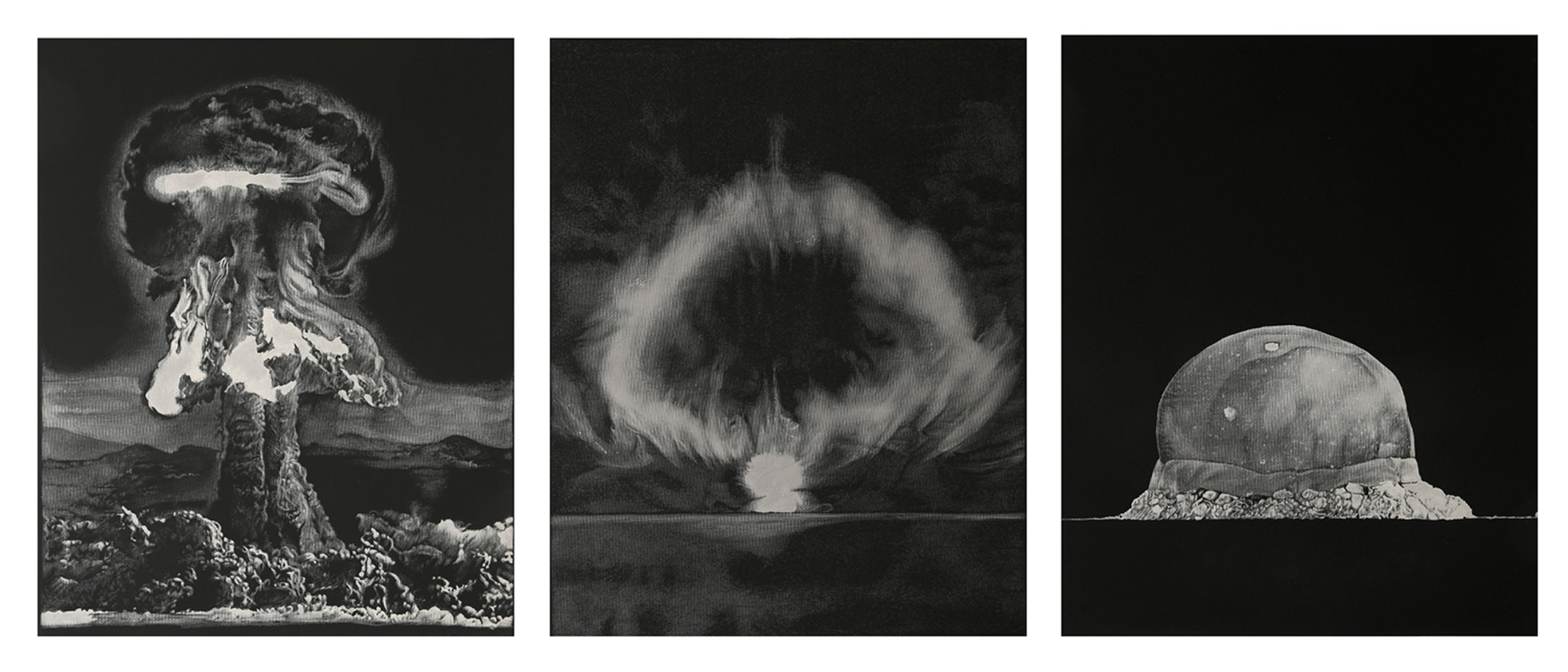 Inferno   2017   Engraved drawing on vinyl   H38.1 x W30.5 cm (each, triptych)