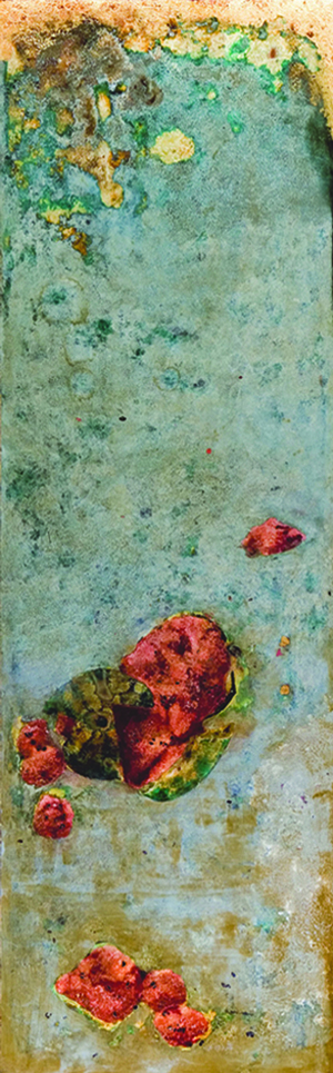 Phi Phi OANH  Black Box (Slow Fuse)  2005 - 2006 Vietnamese natural lacquer ( sơn   ta ) on wood  H190 x W60 x D7 cm