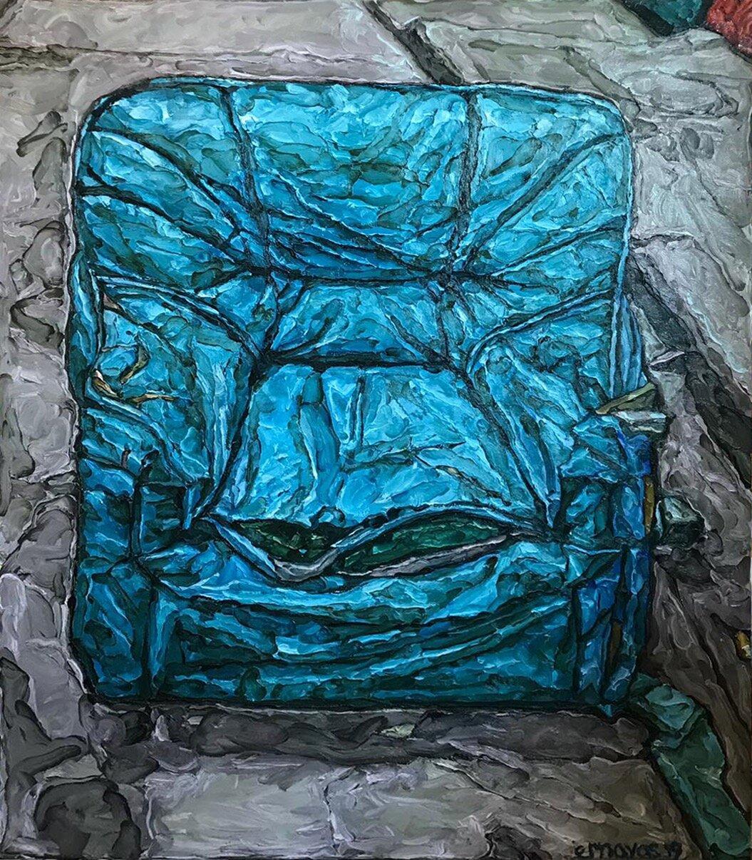 Elaine ROBERTO NAVAS  Sea (After MM Yu)  2019 Oil on canvas H152.4 x W121.9 cm
