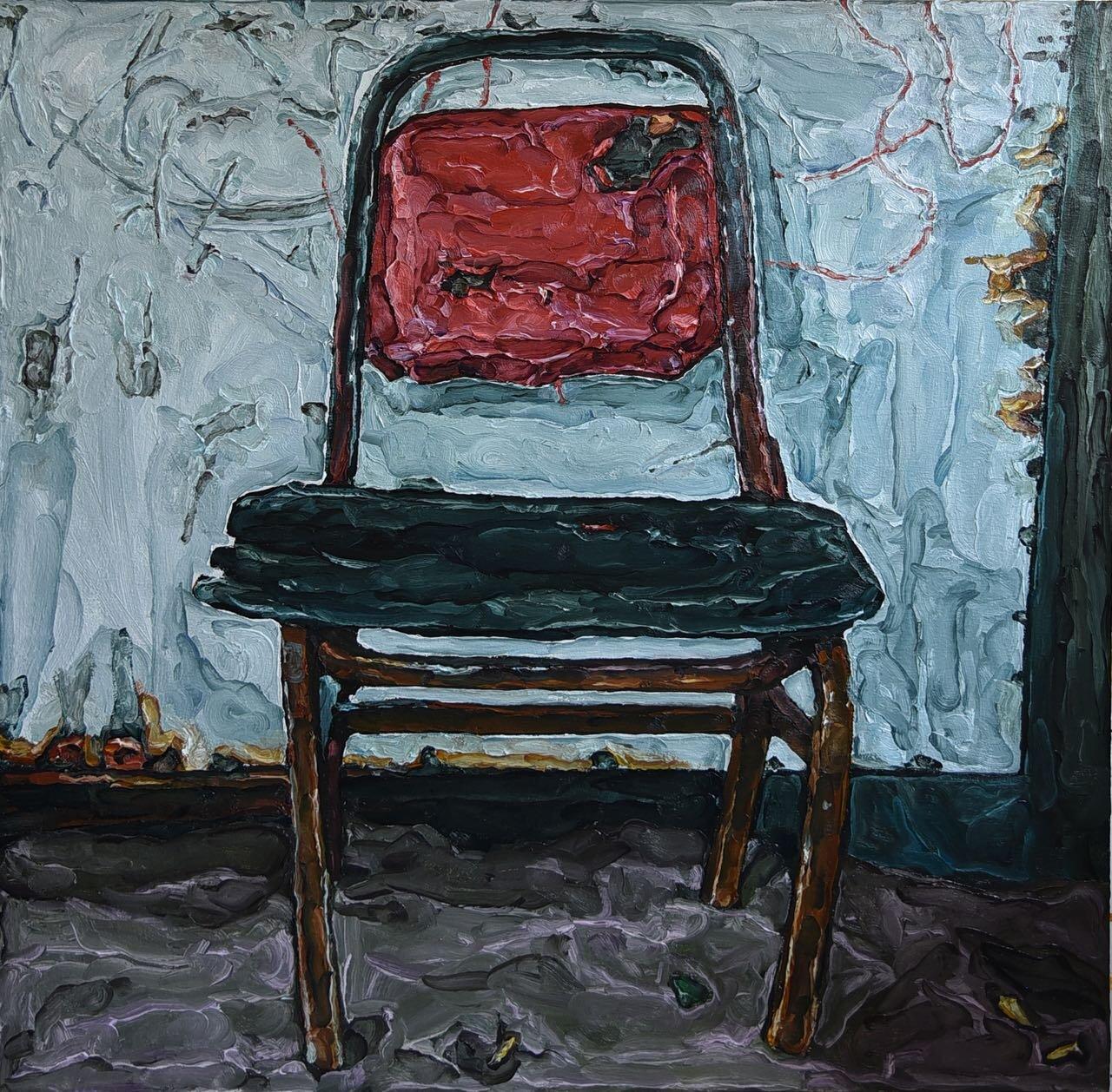 Elaine ROBERTO NAVAS  Fire (After MM Yu)  2019 Oil on canvas H121.9 x W121.9