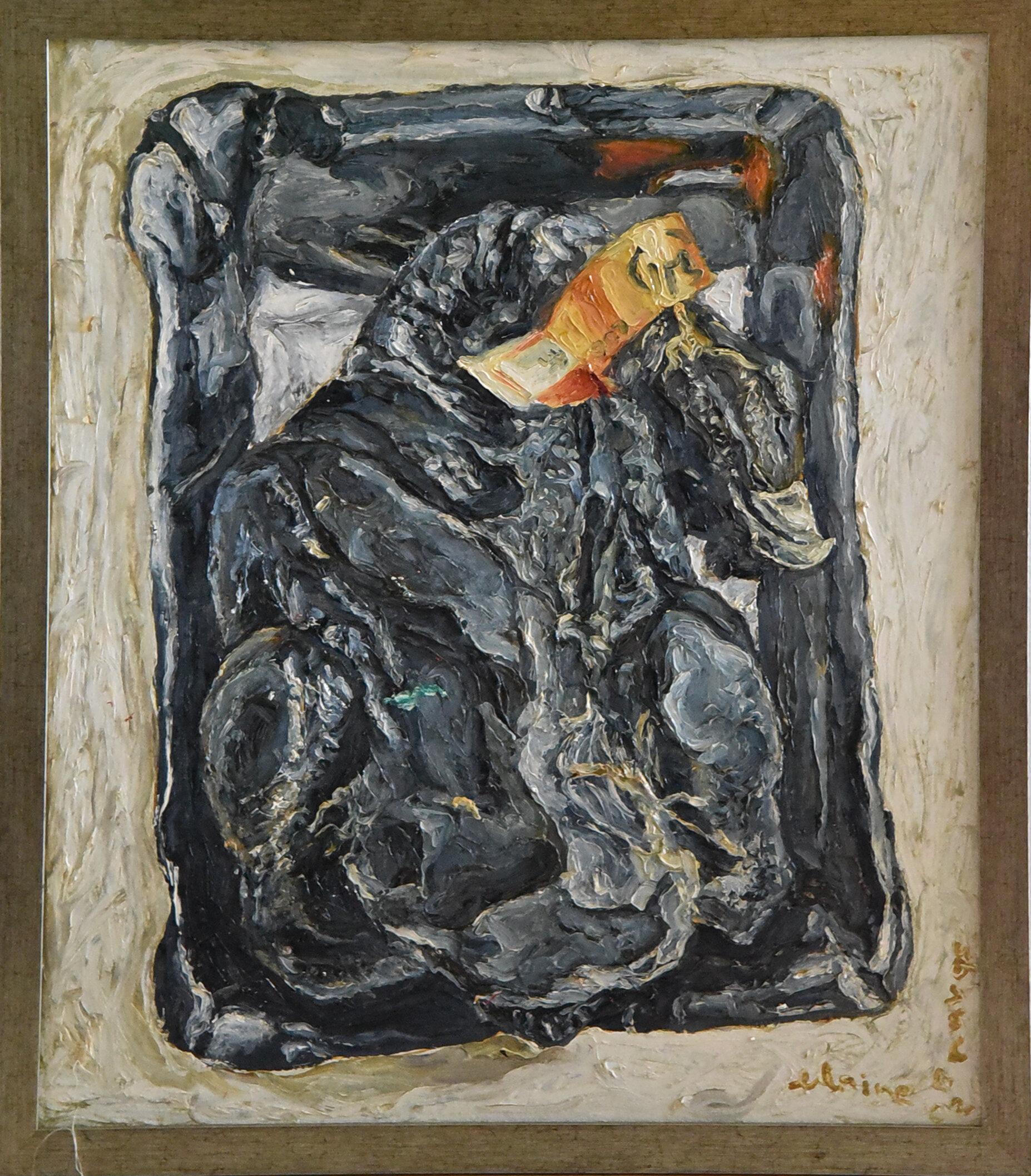 Elaine ROBERTO NAVAS  Grocery Painting II  2003 Oil on canvas H91.4 x W76.2 cm (artwork) H97.8 x W83.2 x D2.5 cm (frame)