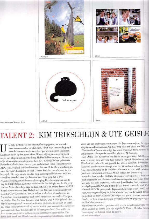 Young Talent, Credits Magazine, June 2004