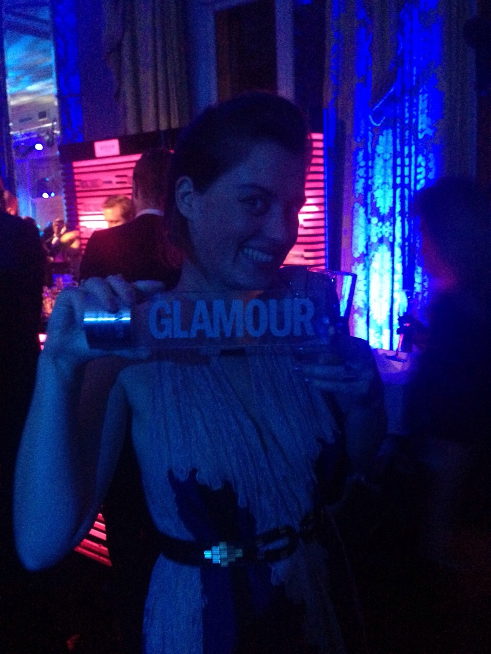 The Award I did not win @ Glamour Woman of the Year 2014, Amstel Hotel, Amsterdam