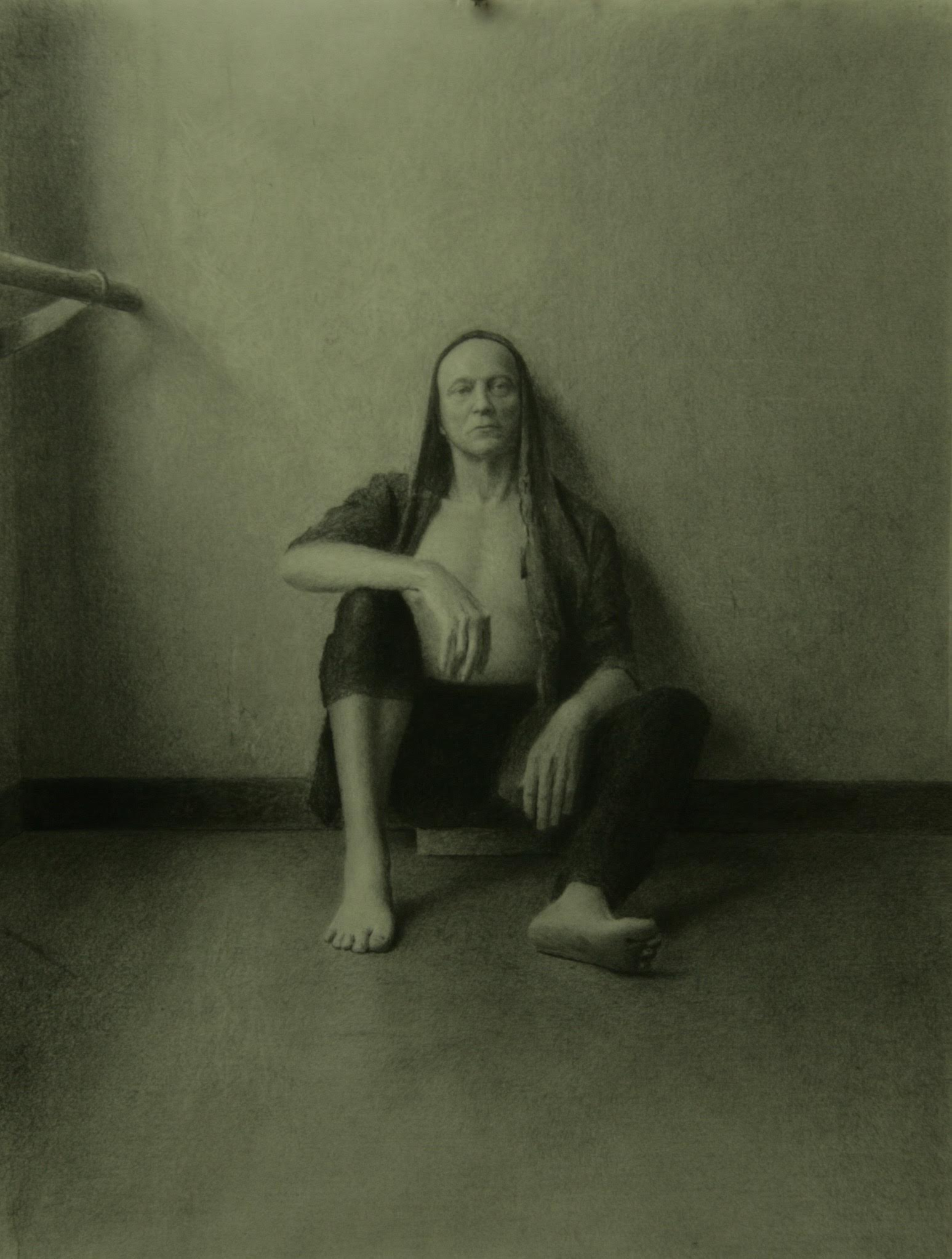 John Randall Younger, Man at Rest. Graphite on paper, 2014