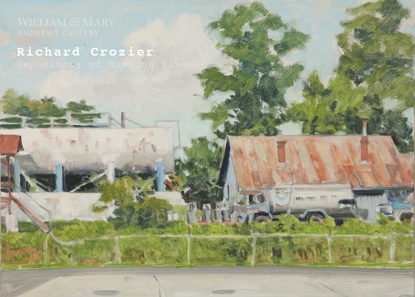 Repository of Missing Places: Richard Crozier's Paintings of Lost and Found Charlottesville  is opening September 8th in the Andrews Gallery at the College of William & Mary.