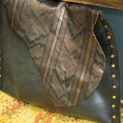 Leather & Rubber Bag by Imperfect Art