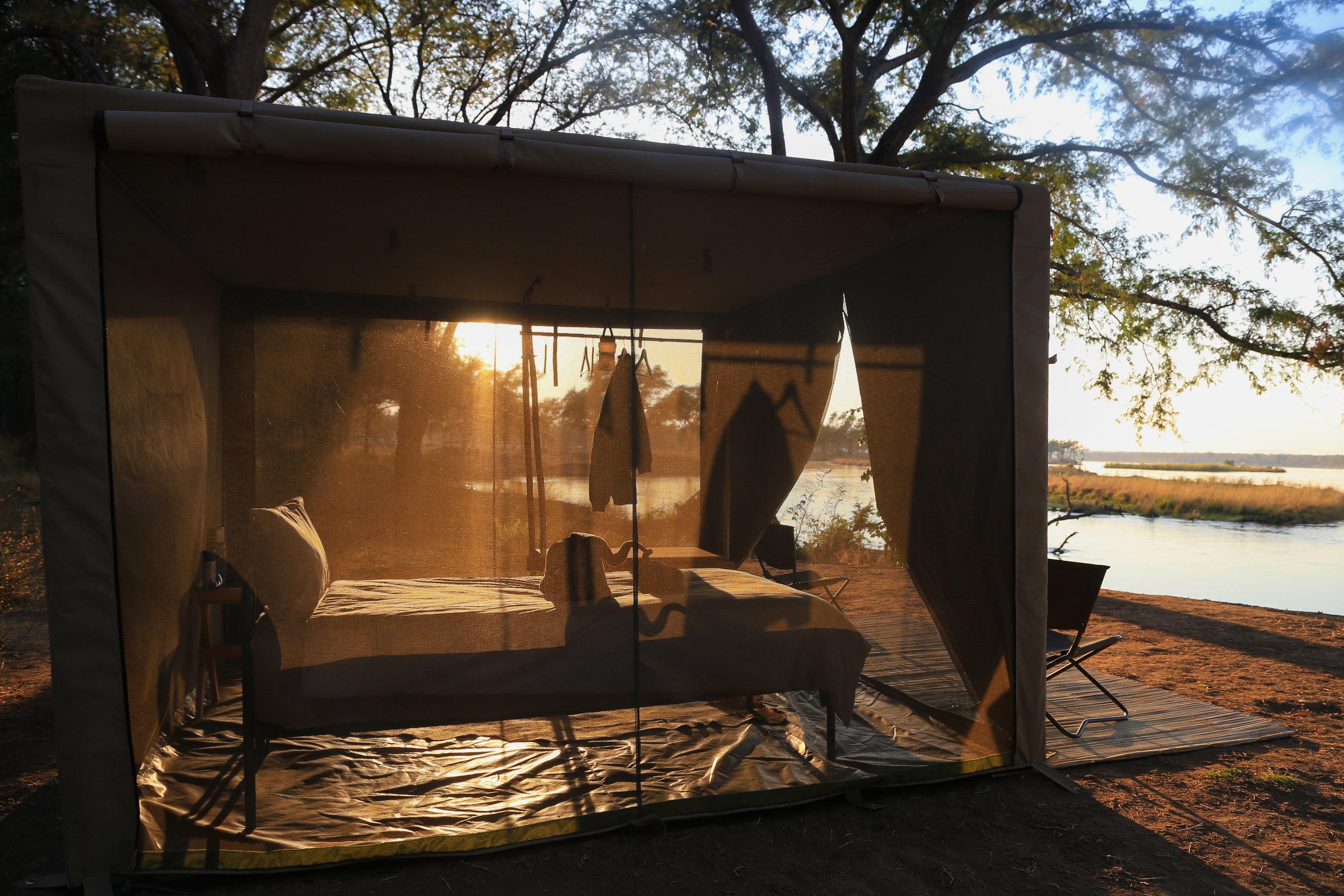 Tusk and mane tent flycamp lower zambezi.jpg