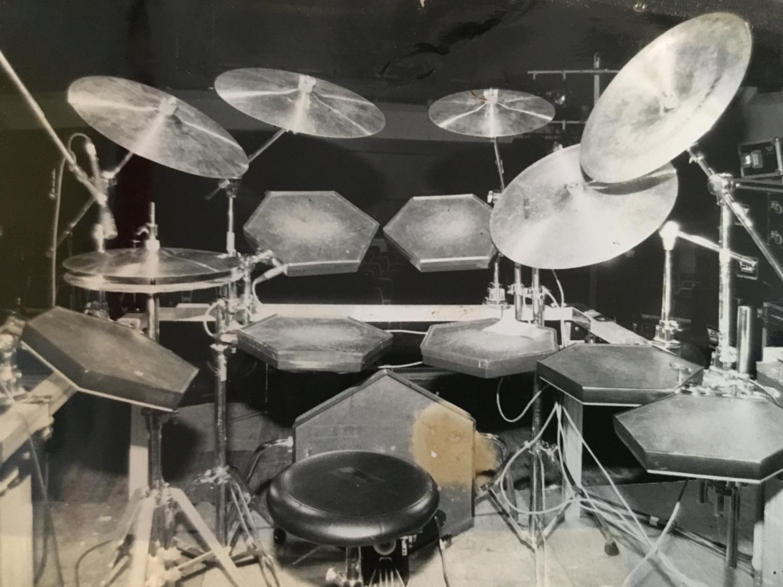 … mein Simmons E-Drum bei der Falco Tour