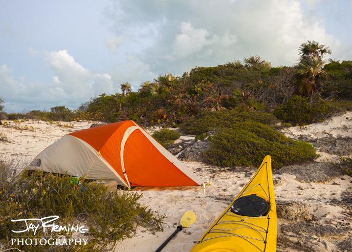 Campsite. Brigantine Cays