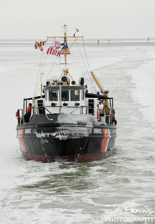 Coast Guard Cutter 'Chock'. Tangier Sound, Virginia