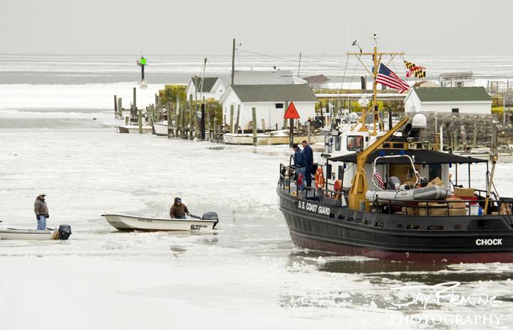 Coast Guard Cutter 'Chock'. Tangier Island, Virginia