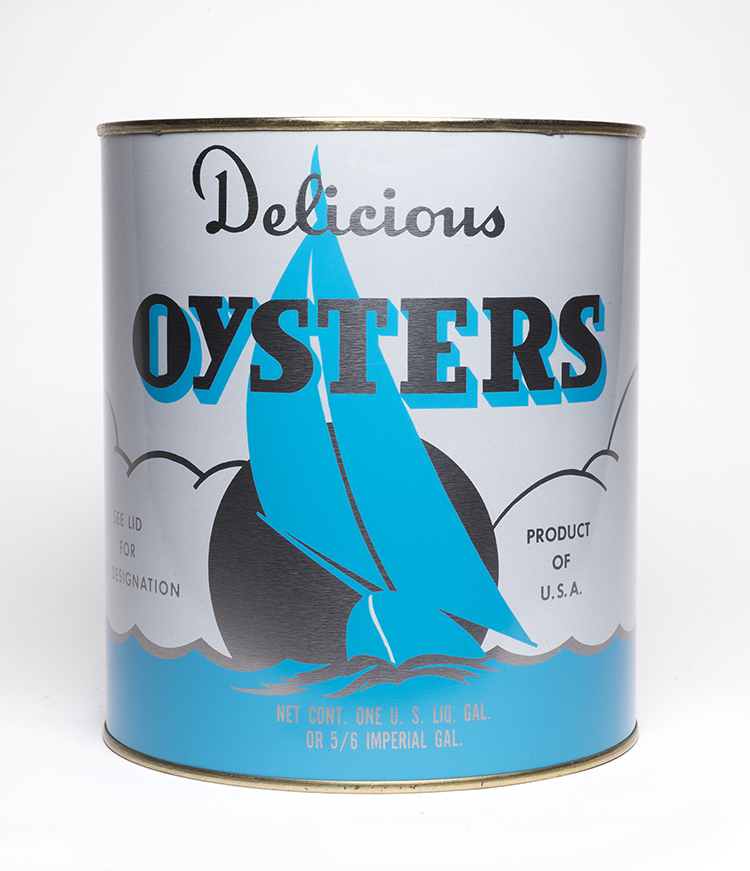 Photograph of the original Oyster Can, this design was standard for many packing houses in the Chesapeake Region