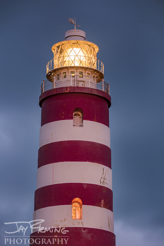 The iconic 'candy cane' paint job on the exterior of the light was designed to help mariners distinguish Elbow Reef light from other lighthouses in the Bahamas