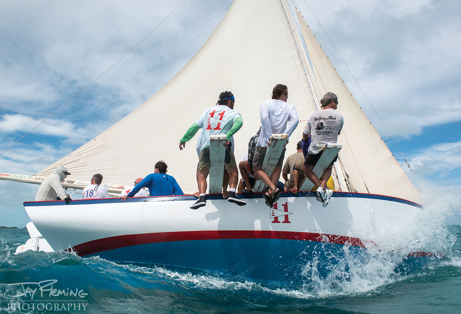 The  Abaco Rage, photographed during a regatta off of Hope Town on Elbow Cay.