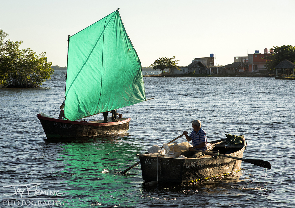 Cuban fishermen are required to notify the government authorities when they leave for a trip and when they they return to port. Access to the water in Cuba, even for Cubans, is very limited.