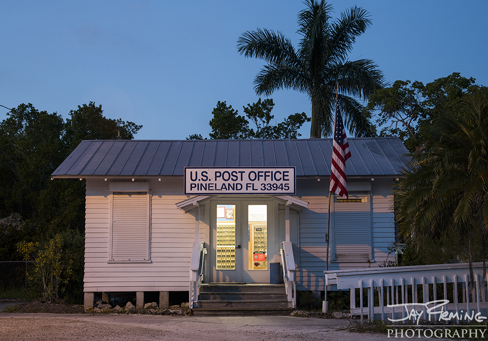 The post office in Pineland has been the subject of paintings and photographs for artists