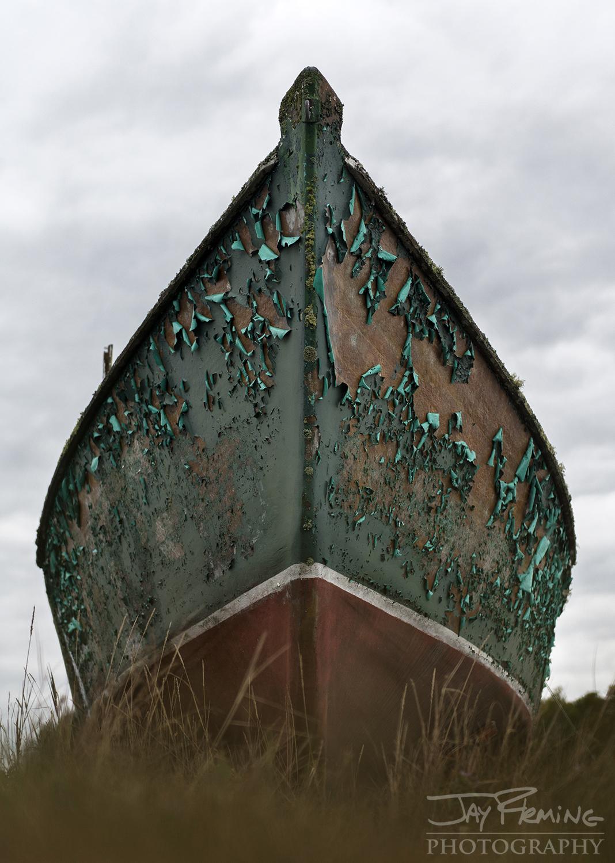 An abandoned workboat on Vinalhaven Island.